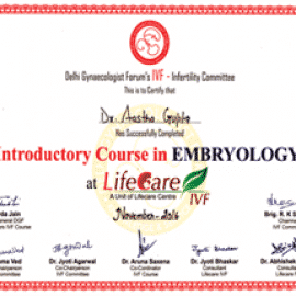 Introductory course in embryology