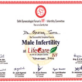 male infertility certificate