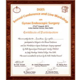 gynae endoscopic surgery certificate