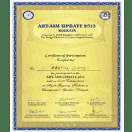 ART-AIM Update 2013 certificate